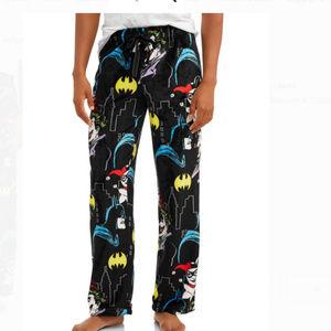 Official DC Batman Faux Fur Pajama Pants Black